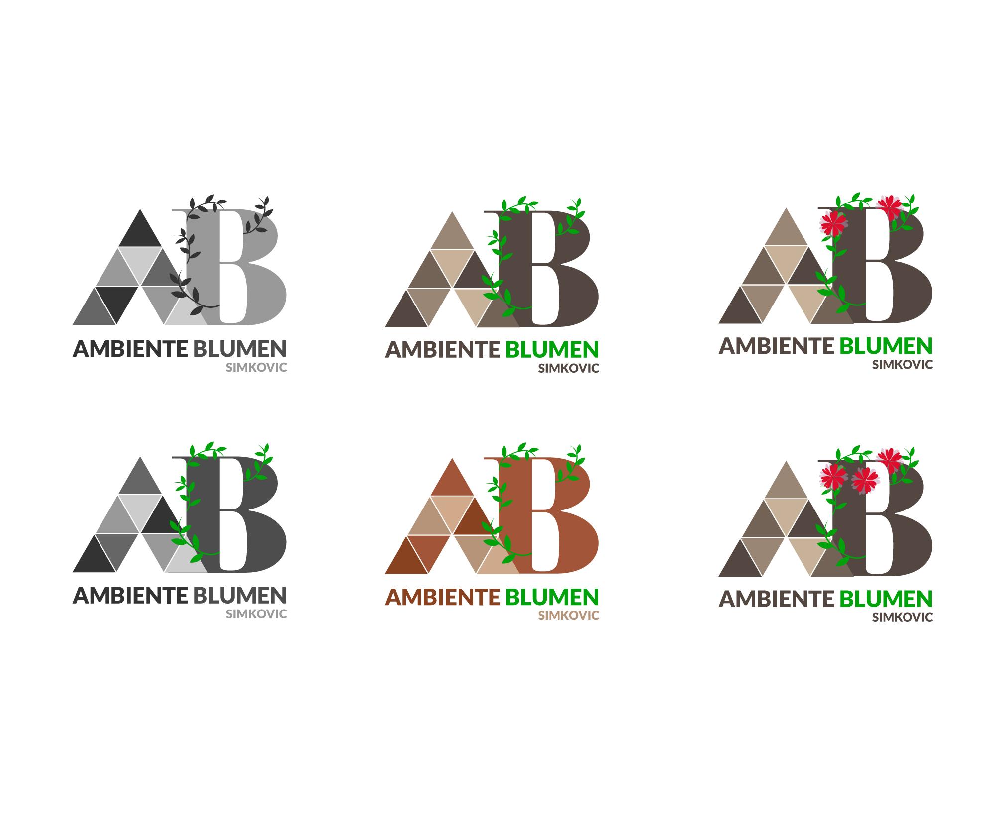 6 logo concepts: Ambiente Blumen Simkoiv